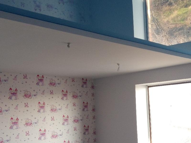 Объекты квартиры голубой потолок