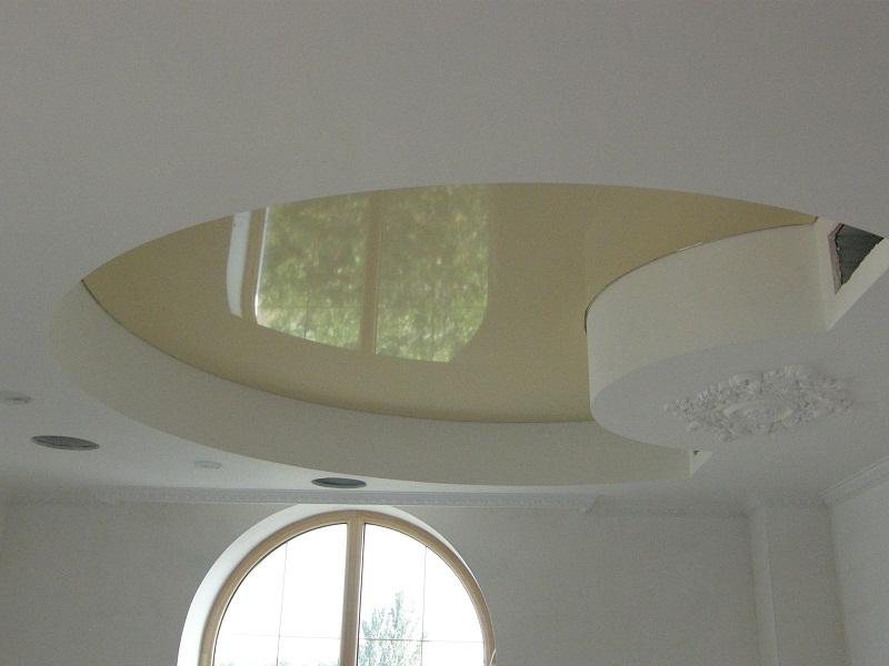 Натяжные потолки цвет шампань