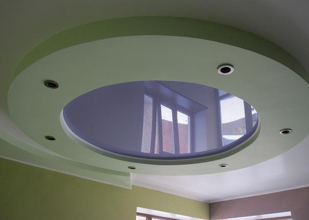 Натяжные потолки круглые